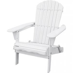 Folding Adirondack Folding Chair White